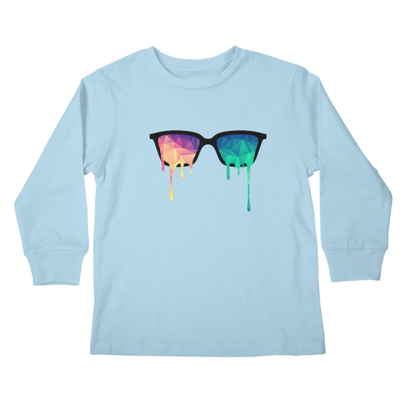 Psychedelic Nerd Glasses Kids Longsleeve T-Shirt by Badbugs's Artist Shop