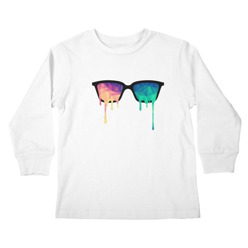 Psychedelic Nerd Glasses Kids Longsleeve T-Shirt by Badbugs's Artist Shop