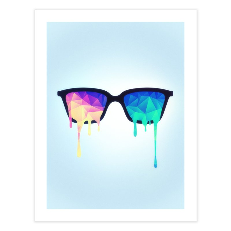 Psychedelic Nerd Glasses Home Fine Art Print by Badbugs's Artist Shop