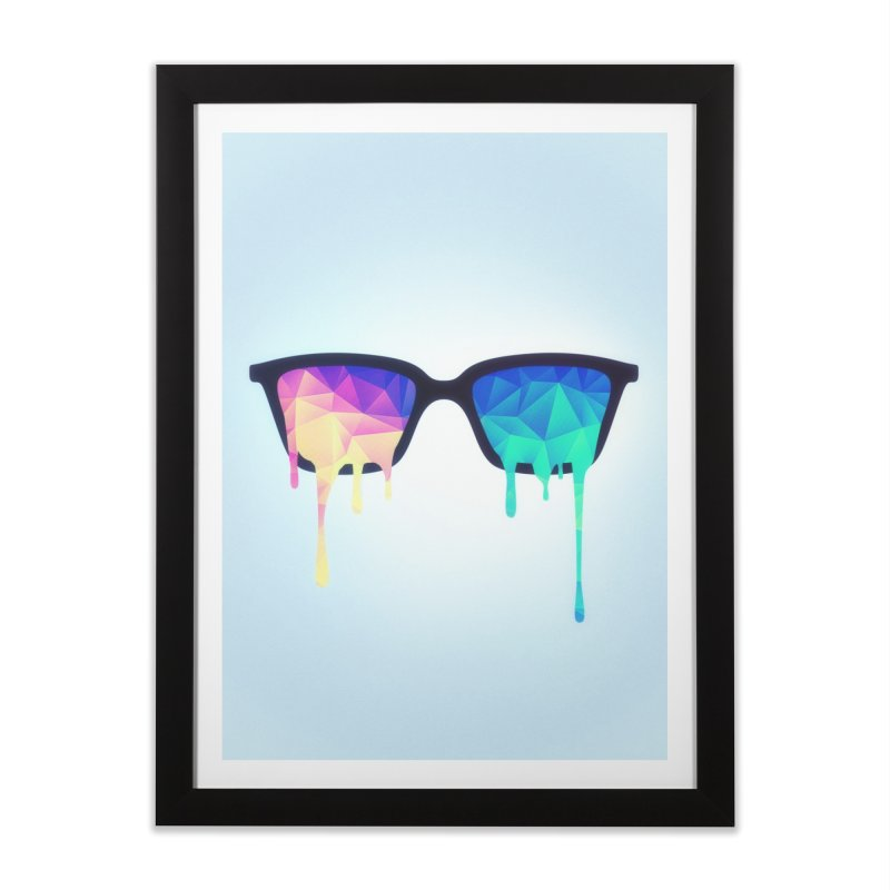 Psychedelic Nerd Glasses Home Framed Fine Art Print by Badbugs's Artist Shop