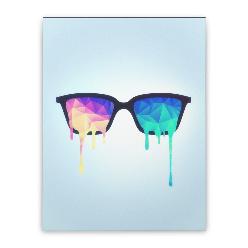 Psychedelic Nerd Glasses Home Stretched Canvas by Badbugs's Artist Shop