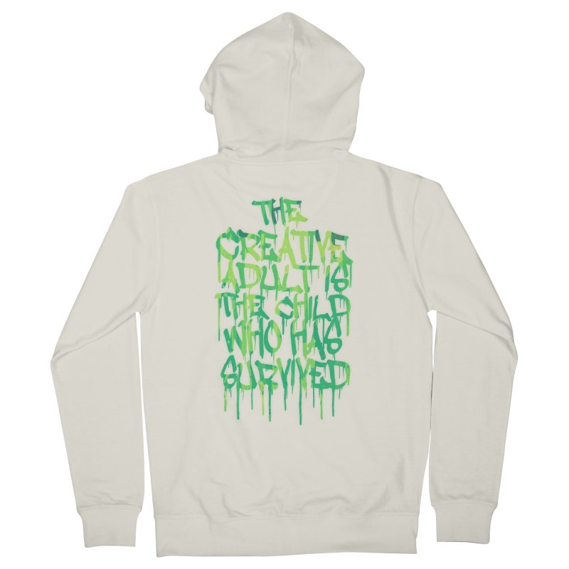 Graffiti Tag Typography! The Creative Adult Women's Zip-Up Hoody by Badbugs's Artist Shop