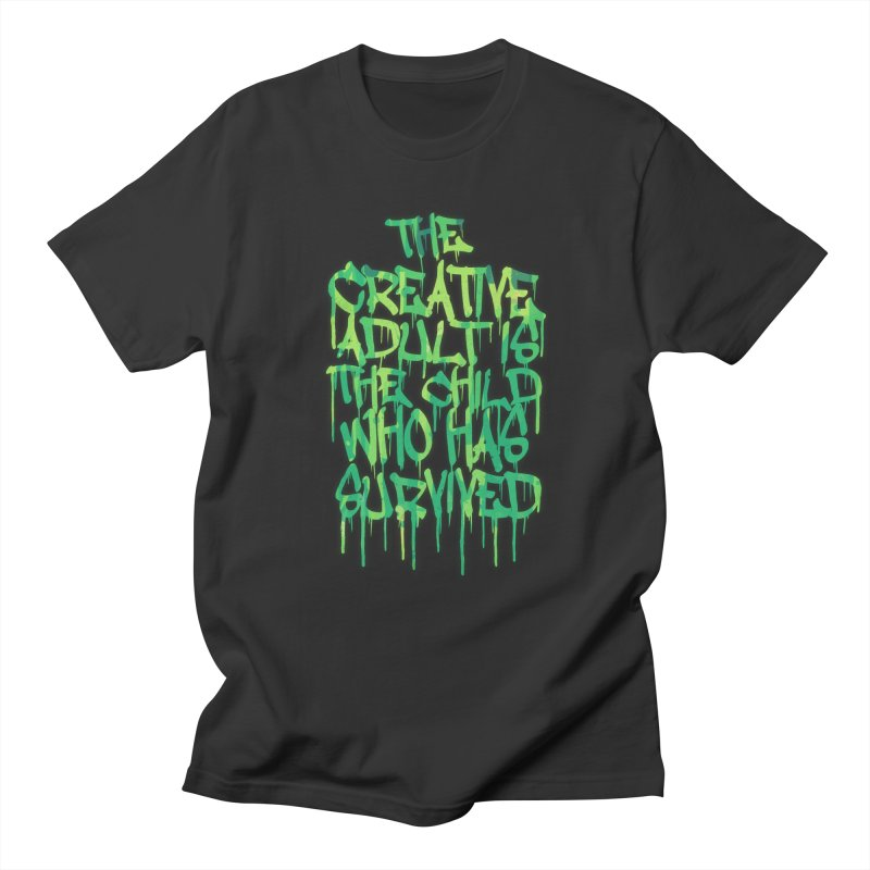Graffiti Tag Typography! The Creative Adult Men's T-Shirt by Badbugs's Artist Shop