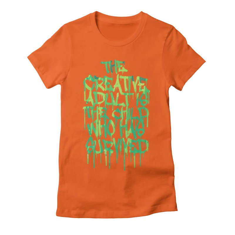 Graffiti Tag Typography! The Creative Adult Women's Fitted T-Shirt by Badbugs's Artist Shop