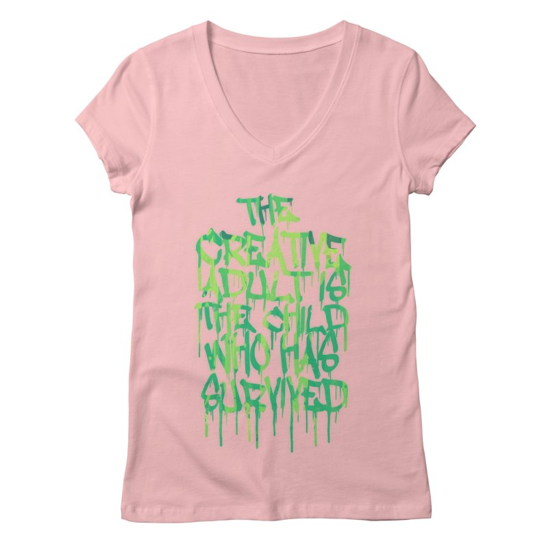 The Creative Adult Women's V-Neck by Badbugs's Artist Shop