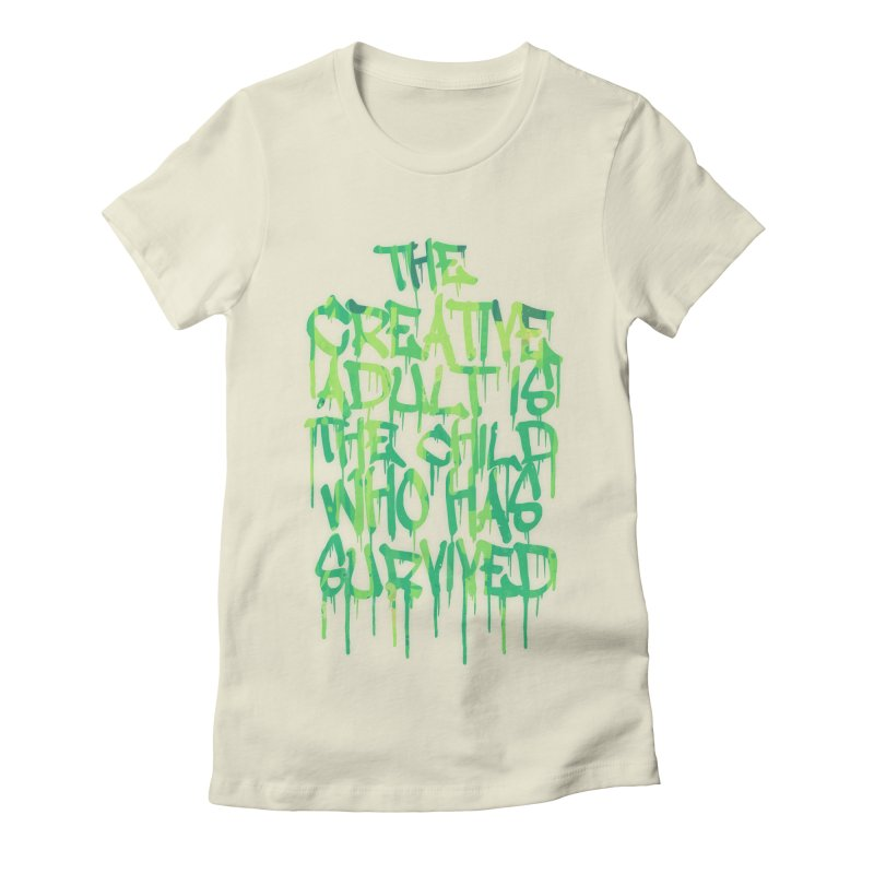 The Creative Adult Women's Fitted T-Shirt by Badbugs's Artist Shop
