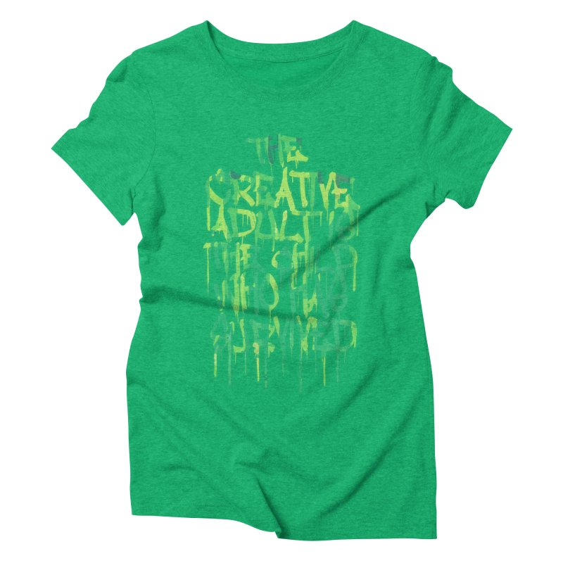 Graffiti Tag Typography! The Creative Adult Women's Triblend T-Shirt by Badbugs's Artist Shop
