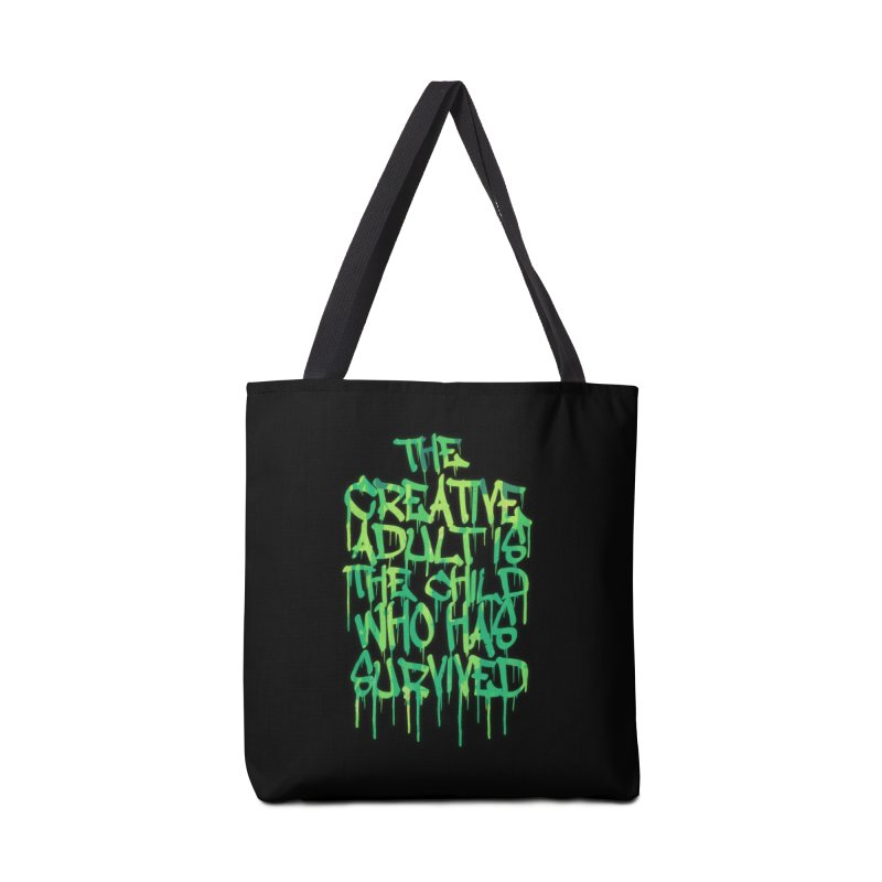Graffiti Tag Typography! The Creative Adult Accessories Bag by Badbugs's Artist Shop