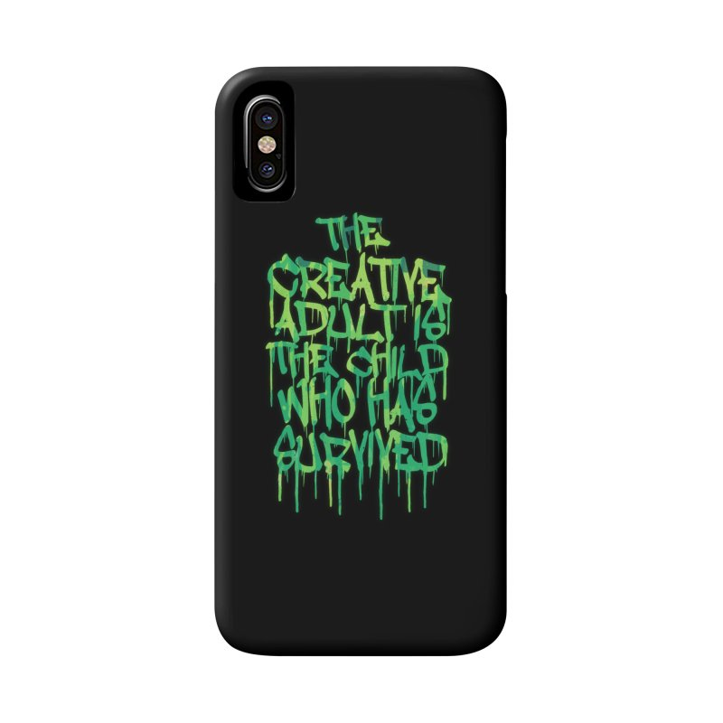 Graffiti Tag Typography! The Creative Adult Accessories Phone Case by Badbugs's Artist Shop