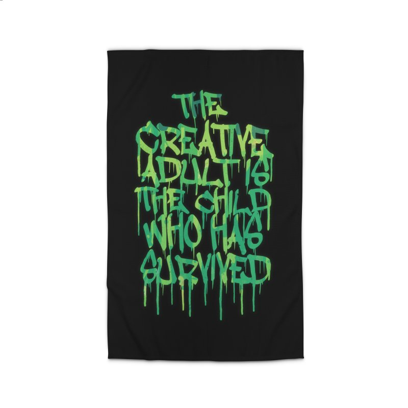 Graffiti Tag Typography! The Creative Adult Home Rug by Badbugs's Artist Shop