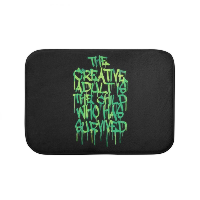 Graffiti Tag Typography! The Creative Adult Home Bath Mat by Badbugs's Artist Shop