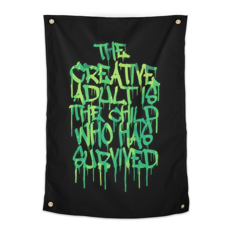 Graffiti Tag Typography! The Creative Adult Home Tapestry by Badbugs's Artist Shop