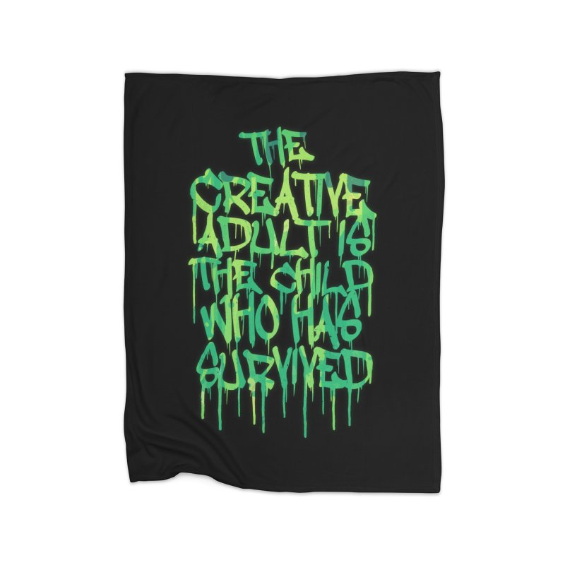 Graffiti Tag Typography! The Creative Adult Home Blanket by Badbugs's Artist Shop