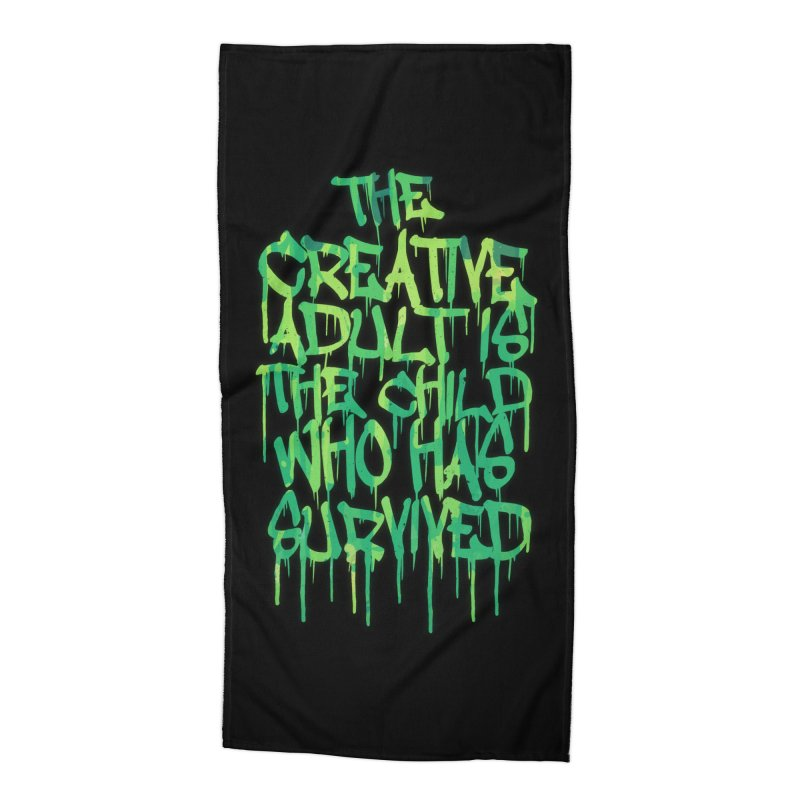 Graffiti Tag Typography! The Creative Adult Accessories Beach Towel by Badbugs's Artist Shop