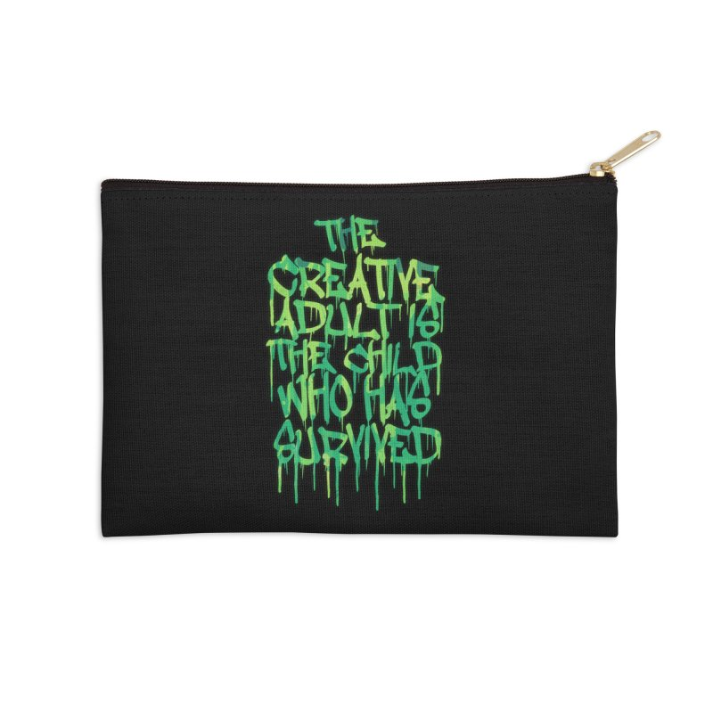 Graffiti Tag Typography! The Creative Adult Accessories Zip Pouch by Badbugs's Artist Shop