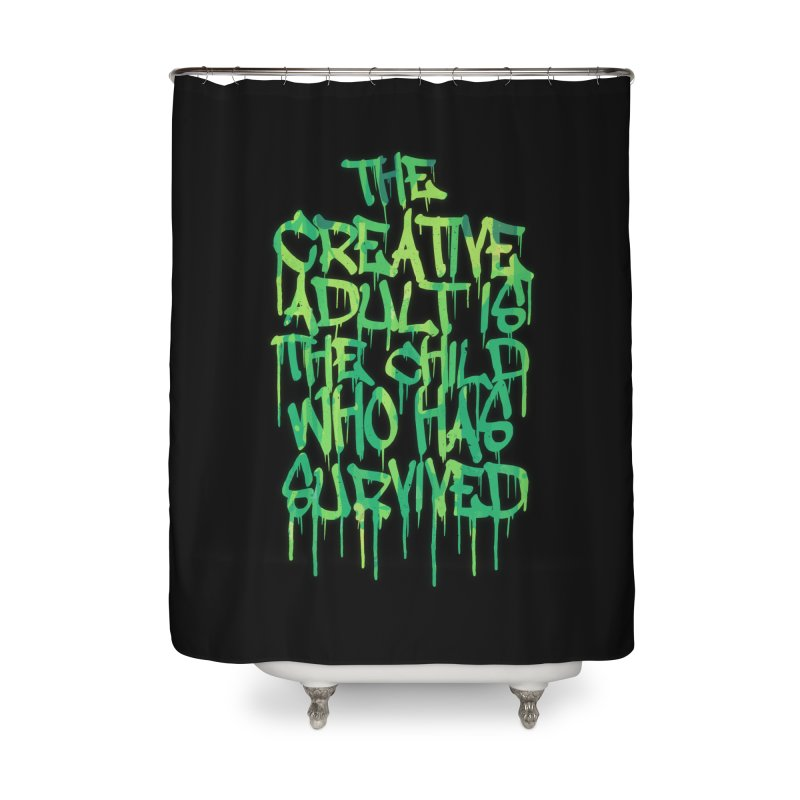 Graffiti Tag Typography! The Creative Adult Home Shower Curtain by Badbugs's Artist Shop