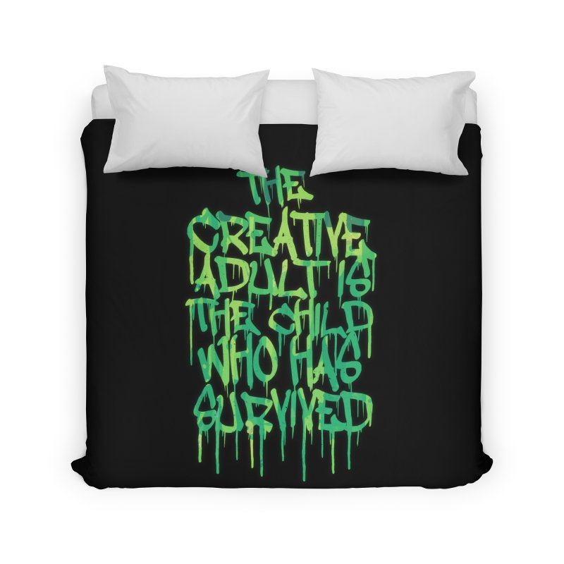Graffiti Tag Typography! The Creative Adult Home Duvet by Badbugs's Artist Shop
