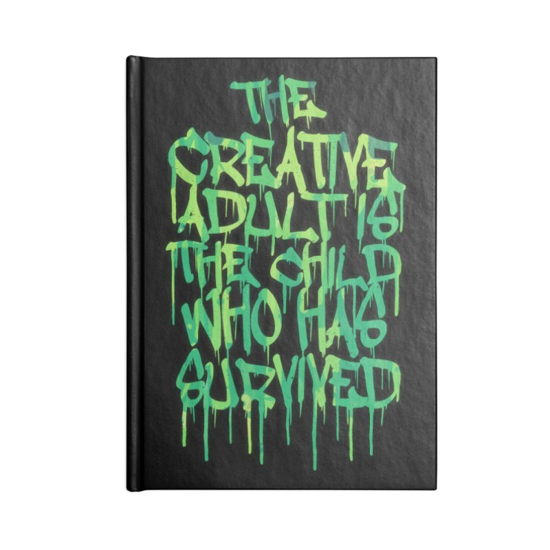Graffiti Tag Typography! The Creative Adult Accessories Notebook by Badbugs's Artist Shop