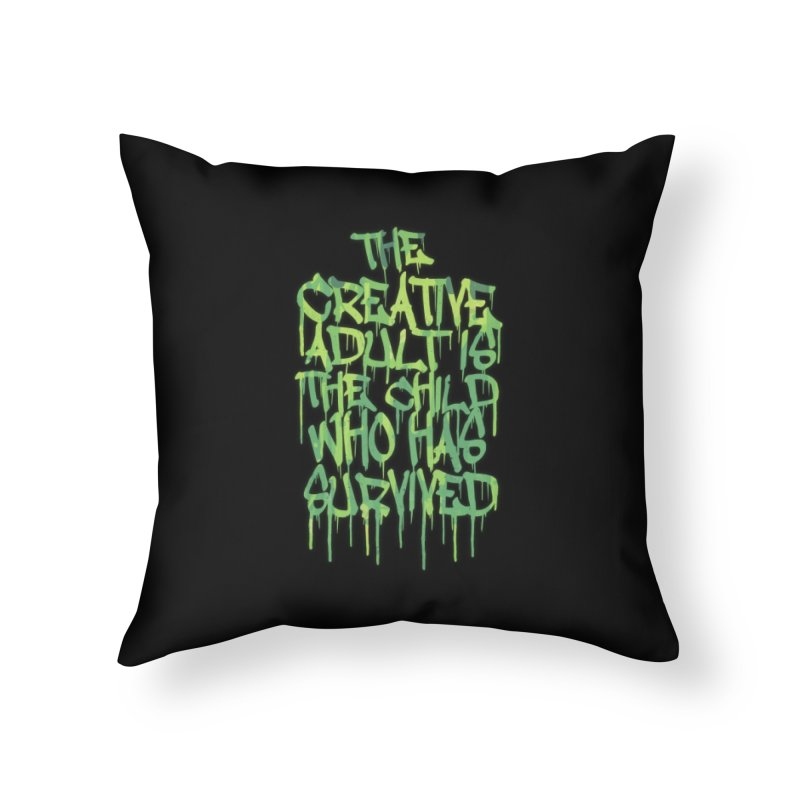 Graffiti Tag Typography! The Creative Adult Home Throw Pillow by Badbugs's Artist Shop