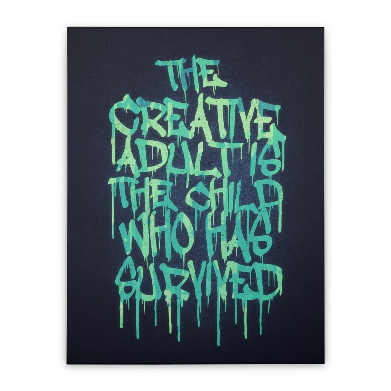 The Creative Adult Home Stretched Canvas by Badbugs's Artist Shop