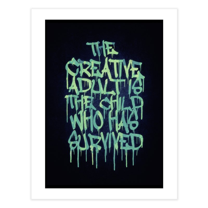 Graffiti Tag Typography! The Creative Adult Home Fine Art Print by Badbugs's Artist Shop