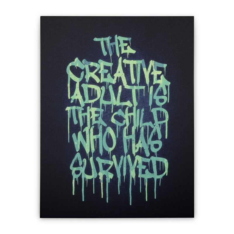 Graffiti Tag Typography! The Creative Adult Home Stretched Canvas by Badbugs's Artist Shop