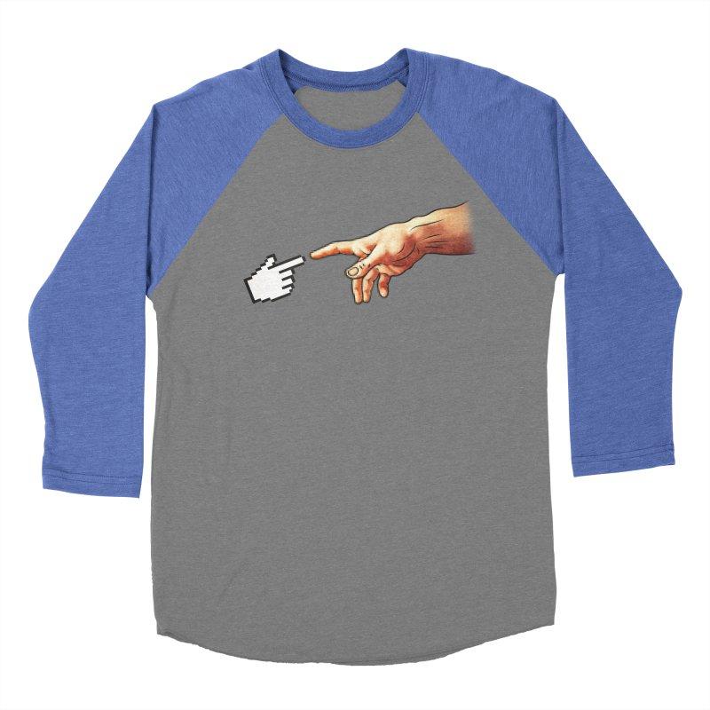 Creation of Adam Parody Women's Baseball Triblend T-Shirt by Badbugs's Artist Shop