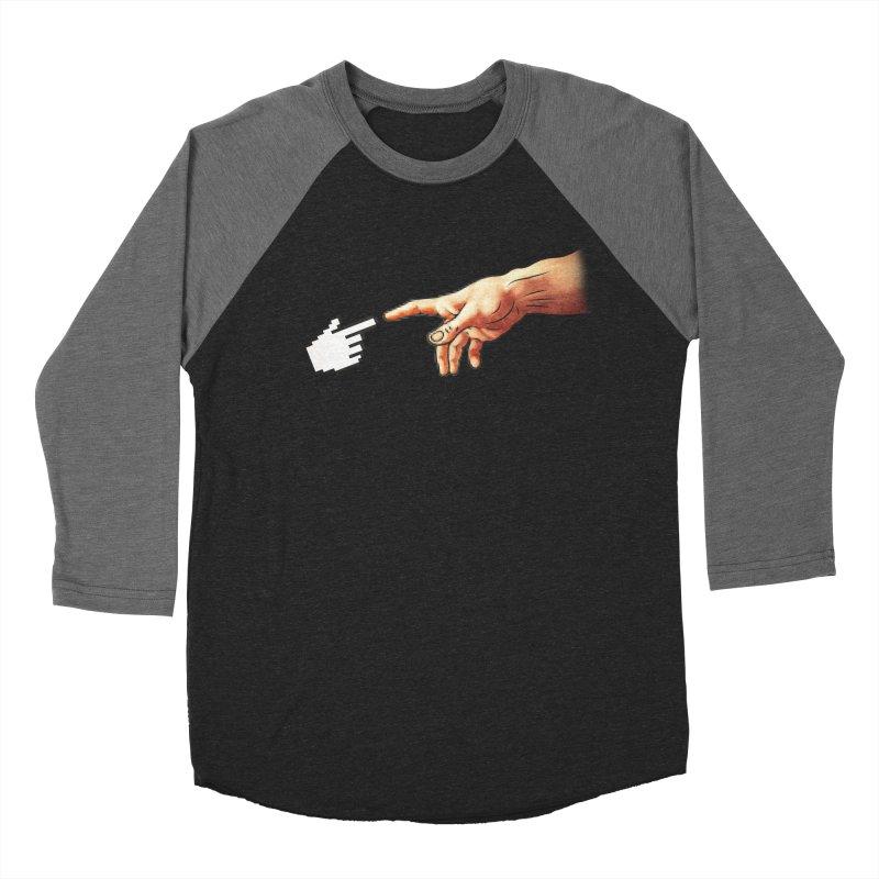 Creation of Adam Parody Men's Baseball Triblend T-Shirt by Badbugs's Artist Shop