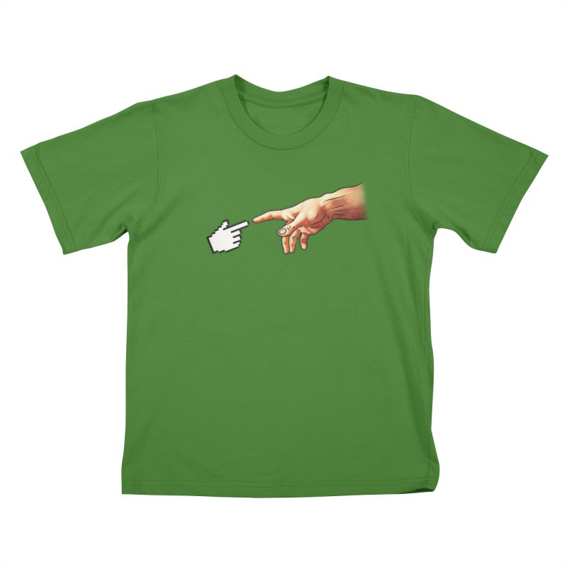Creation of Adam Parody Kids T-shirt by Badbugs's Artist Shop