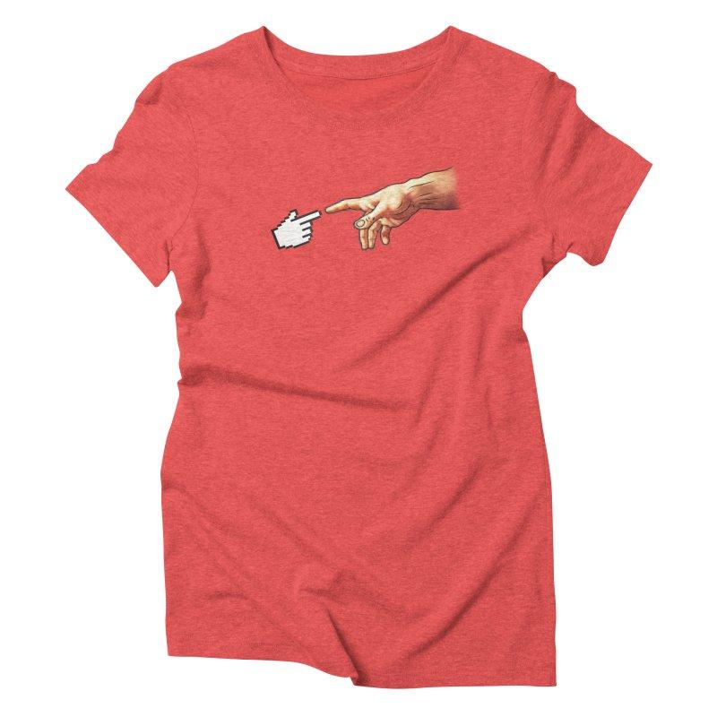 Creation of Adam Parody Women's Triblend T-shirt by Badbugs's Artist Shop