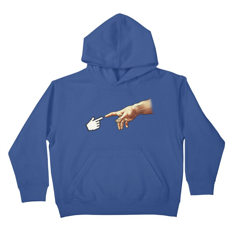Creation of Adam Parody Kids Pullover Hoody by Badbugs's Artist Shop