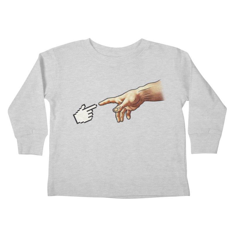 Creation of Adam Parody Kids Toddler Longsleeve T-Shirt by Badbugs's Artist Shop
