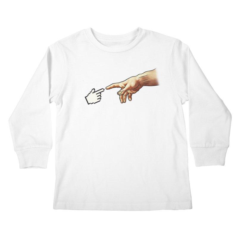 Creation of Adam Parody Kids Longsleeve T-Shirt by Badbugs's Artist Shop