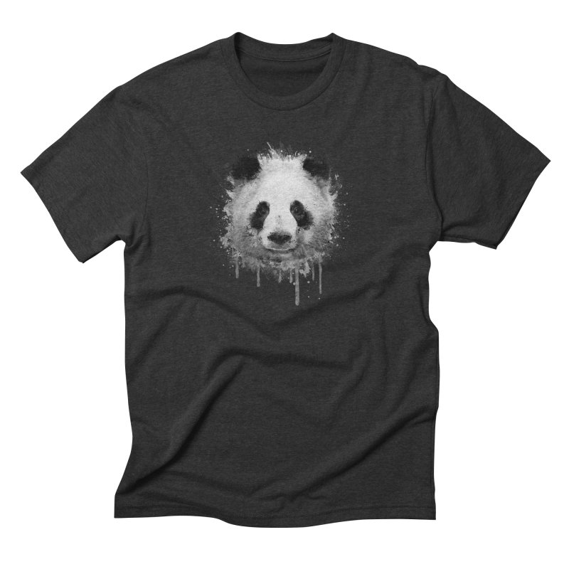 Watercolor Panda Men's Triblend T-Shirt by Badbugs's Artist Shop