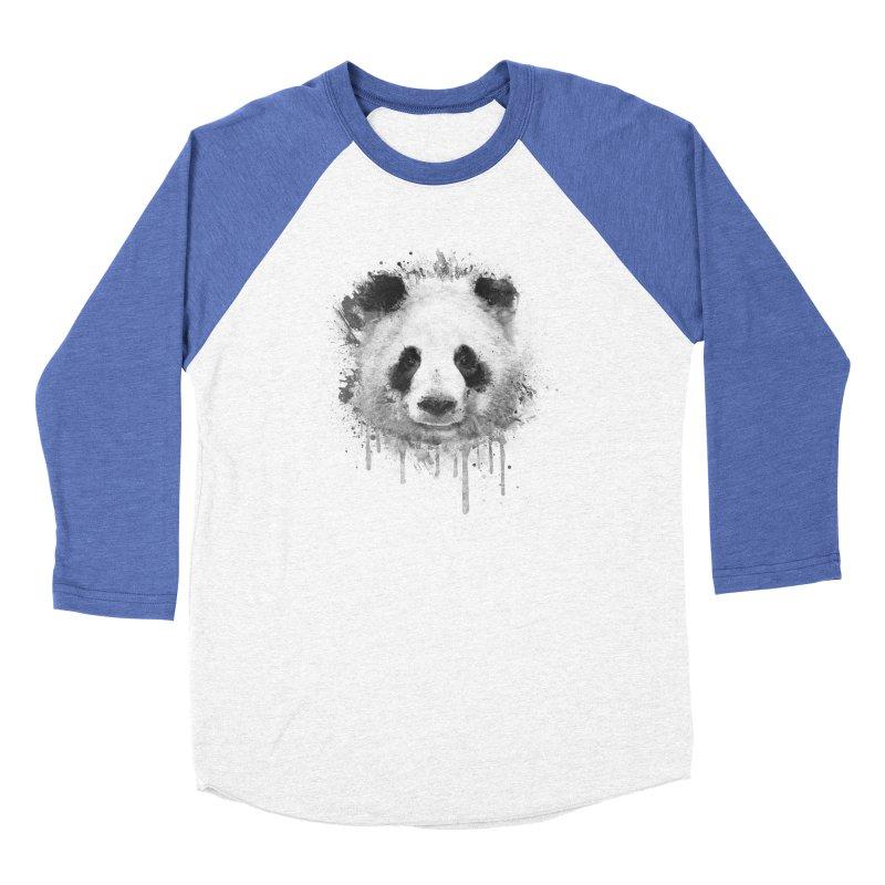 Watercolor Panda Men's Baseball Triblend T-Shirt by Badbugs's Artist Shop