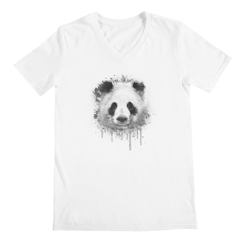 Watercolor Panda Men's V-Neck by Badbugs's Artist Shop