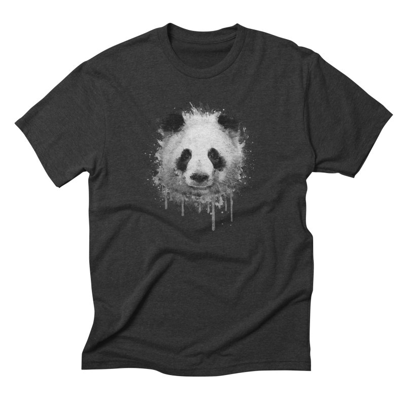 Watercolor Panda Men's Triblend T-shirt by Badbugs's Artist Shop