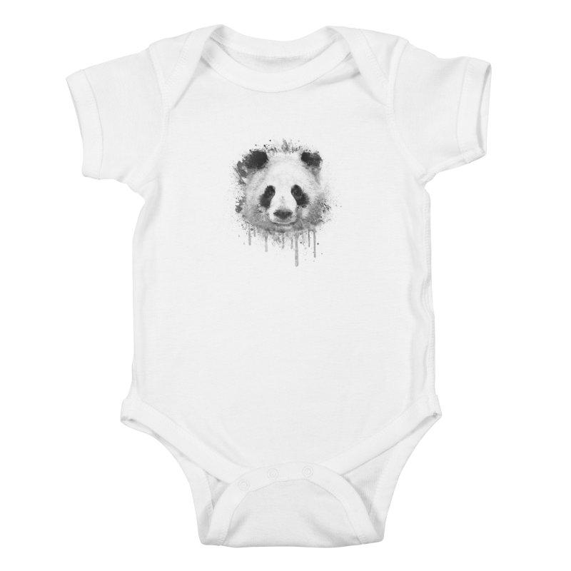 Watercolor Panda Kids Baby Bodysuit by Badbugs's Artist Shop