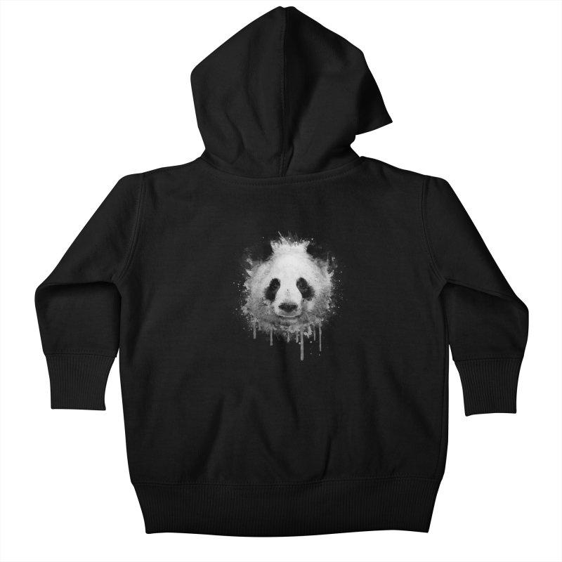 Watercolor Panda Kids Baby Zip-Up Hoody by Badbugs's Artist Shop