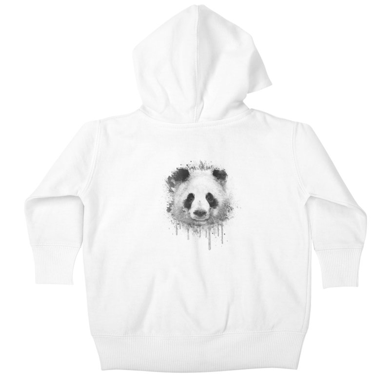 Watercolor Panda Kids Baby Zip-Up Hoody by Badbugs's Artist Shop