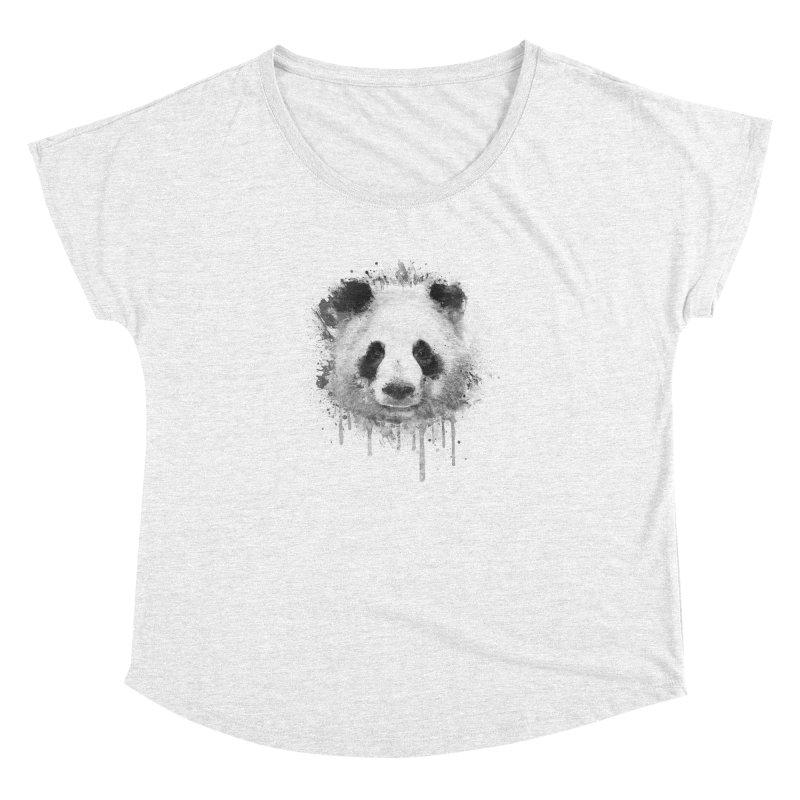 Watercolor Panda Women's Dolman by Badbugs's Artist Shop