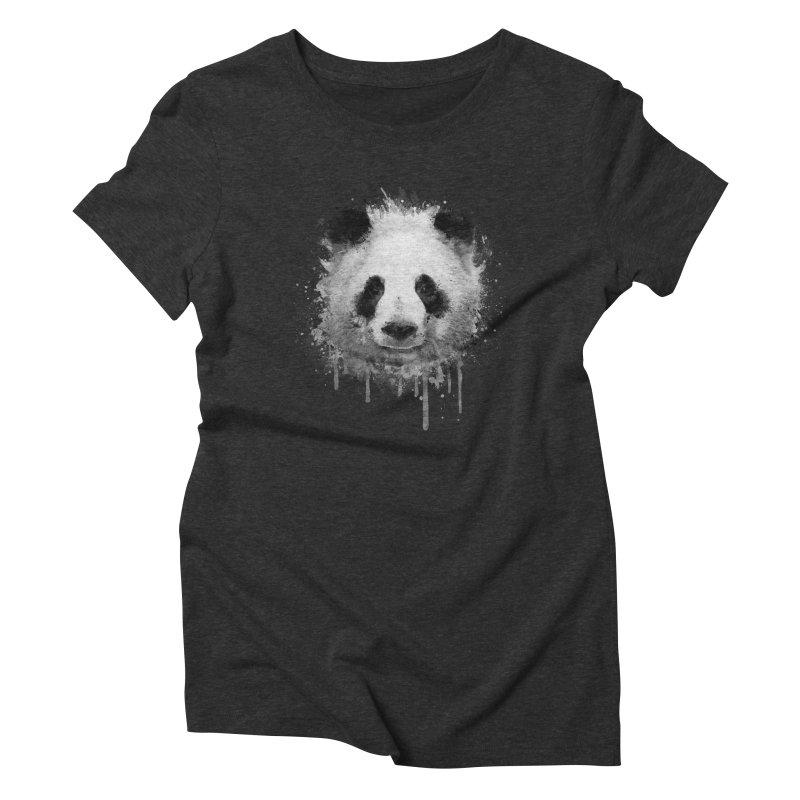 Watercolor Panda Women's Triblend T-shirt by Badbugs's Artist Shop