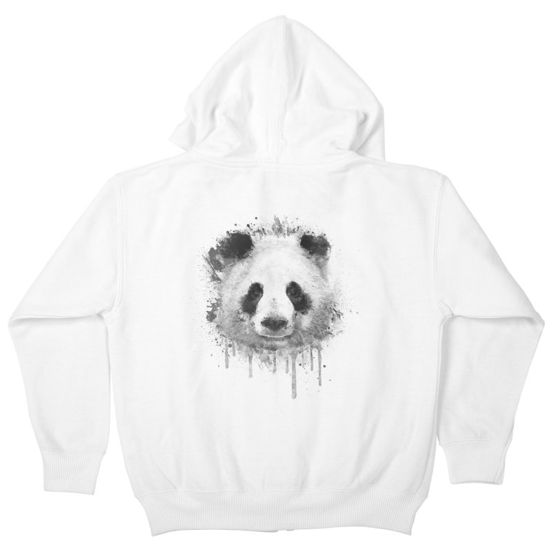 Watercolor Panda Kids Zip-Up Hoody by Badbugs's Artist Shop