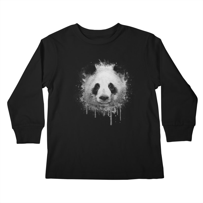 Watercolor Panda Kids Longsleeve T-Shirt by Badbugs's Artist Shop