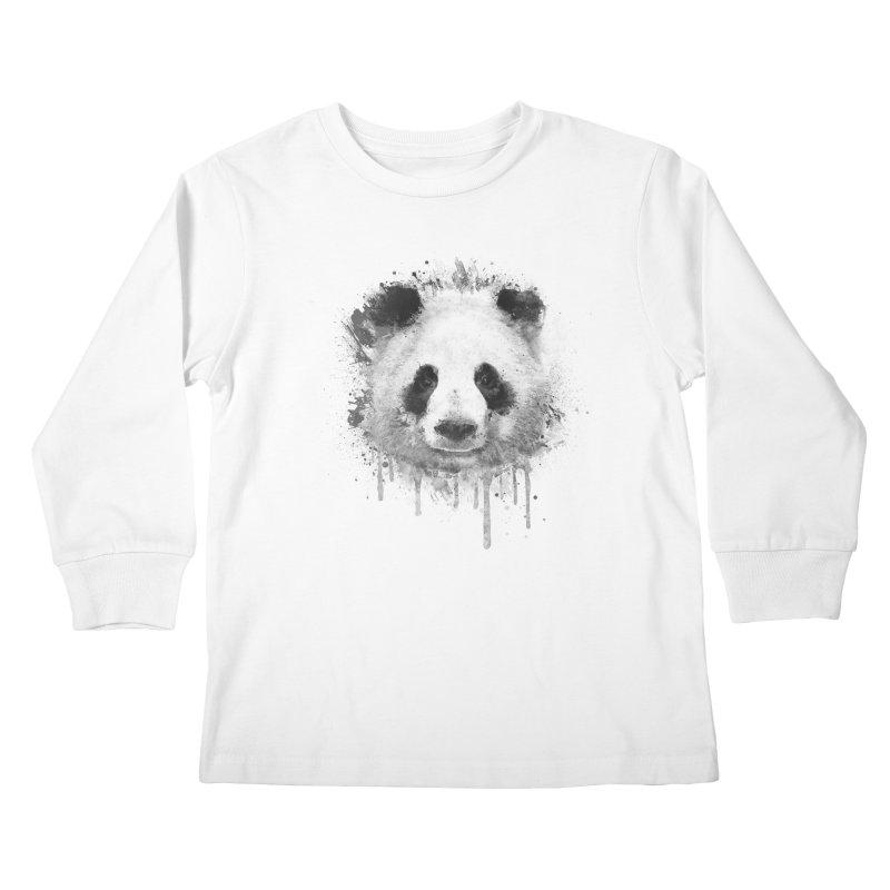 Watercolor Panda Kids Longsleeve T-Shirt by Badbugs's Artist Shop