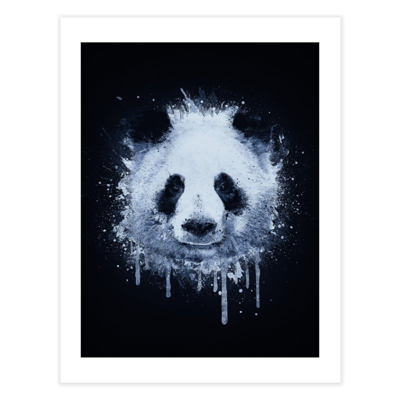 Watercolor Panda Home Fine Art Print by Badbugs's Artist Shop