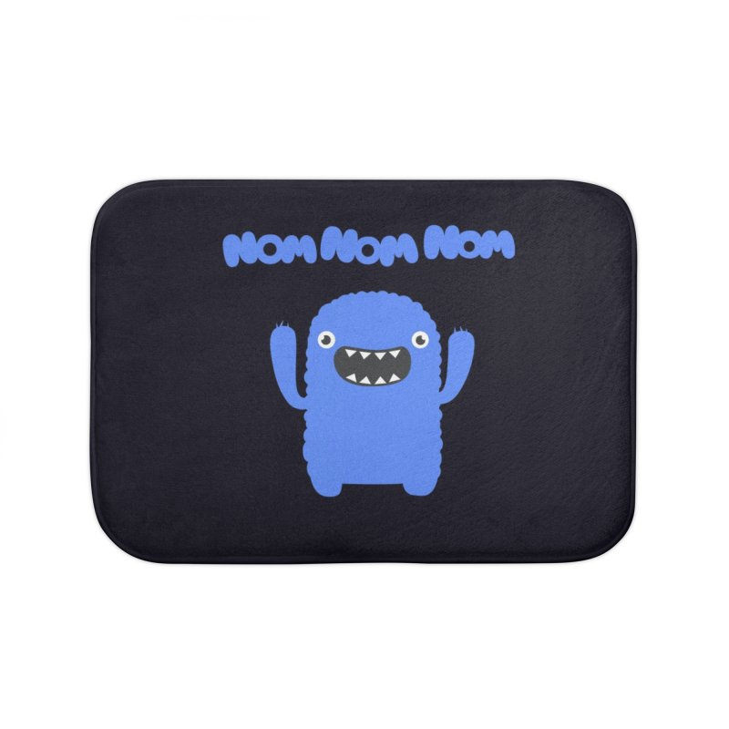 Om nom nom nom Home Bath Mat by Badbugs's Artist Shop