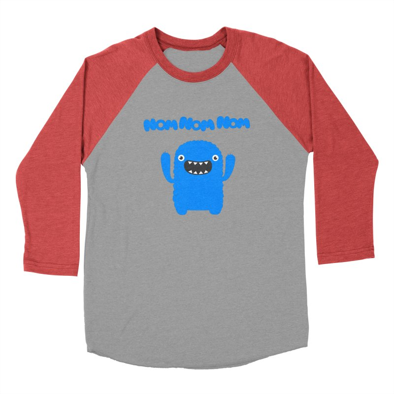 Om nom nom nom Women's Baseball Triblend T-Shirt by Badbugs's Artist Shop