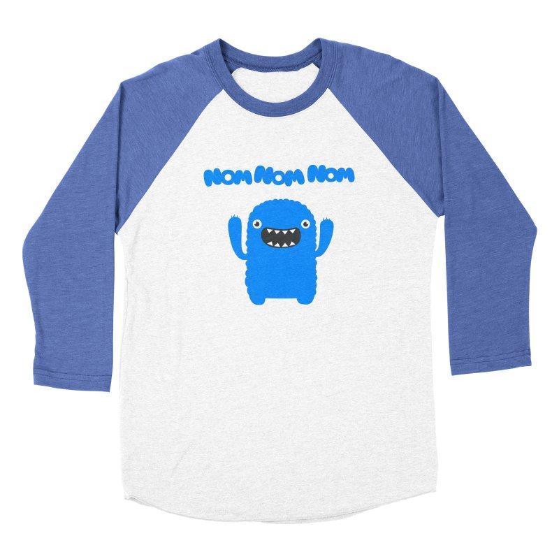 Om nom nom nom Men's Baseball Triblend T-Shirt by Badbugs's Artist Shop