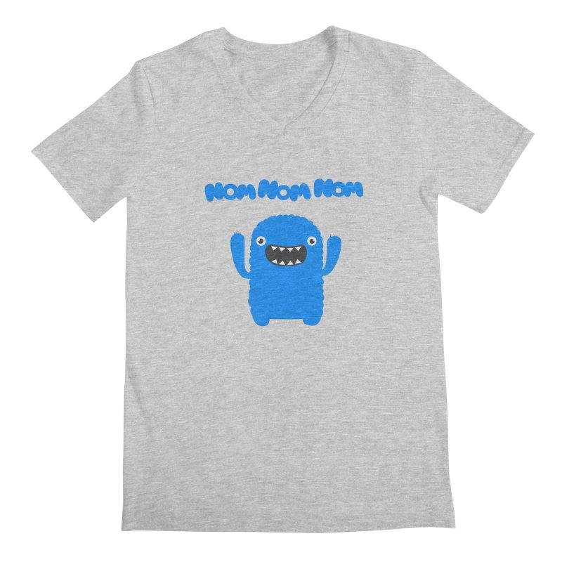 Om nom nom nom Men's V-Neck by Badbugs's Artist Shop